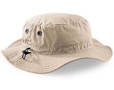 Mans Mens Sun Shade Summer Wide Brim Bucket Cargo Floppy Hat Stone Beige UPF50+