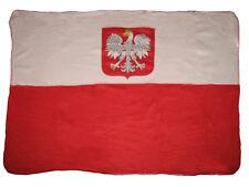 Poland Polska Polish Eagle Flag 50x60 Polar Fleece Blanket Throw