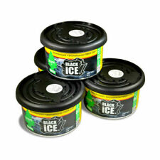 Little Trees 17855-4 Fiber Can Car Air Freshener, Black Ice - 4 Pack