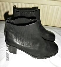 asos black leather ankle boots Size UK 8 EU 41