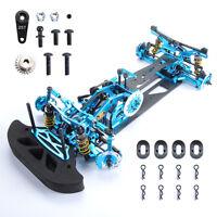 1:10 Alloy Carbon Fiber Frame Kit G4 For HSP HPI RC 4WD on Road Racing Car Blue