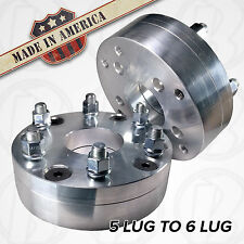 "USA MADE | Chevy GMC |5x4.75"" to 6x5.50"" Wheel Adapter 2"" Spacer  5 lug to 6 lug"