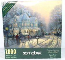 A Holiday Gathering Thomas Kinkade Puzzle 2000 Piece Christmas Springbok New!