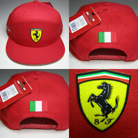 Ferrari Cap Rot - Mit Italienischer Fahne - Ferrari Logo Lizenz Produkt Formel 1