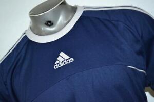20053-a Mens Adidas Gym Shirt Soccer Blue Size XL Polyester