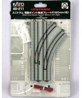 NEW Kato UNITRAM Street Track Electric Turnout R180mm Right N Scale 40-211