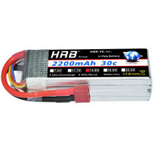 HRB 14.8V 2200mAh 4S LiPo Battery 30C-60C Deans T for RC Helicopter Car Drone