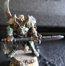 Warhammer Warriors of Chaos metal Nurgle Lord on foot OOP painted