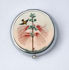Large Flowering Sensitive Plant Flower Pill Case pillbox holder botanical Hummin
