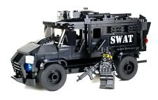 SWAT Truck police armored vehicle made w/ real LEGO® bricks and minifigs