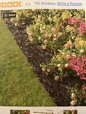 Plow And Hearth Permanent Mulch Recycled Rubber Border Black