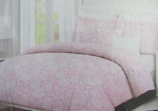 Cynthia Rowley Lacie Pink- Flowers/Hearts- 4 Piece Twin Comforter Set-New