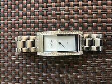 Skagen 459SSXZI Glitz Silver Tone Swarovski Crystal Women's Watch - Nice Cond.