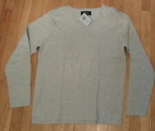 Forever 21 Mens Heritage1981, Grey V- Neck Fine Knit Cotton Sweater Sz XL (65)