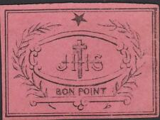 BON POINT ANCIEN ROSE /CATECHISME/J H S/ETOILE/LAURIER-CROIX