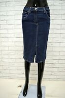Gonna Jeans CARRERA Donna Taglia Size 40 Shorts Skirt Woman Cotone Blu Vita Alta