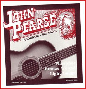 John Pearse Strings Light Guitar Set Phosphor Bronze Wound Long Lasting Tone
