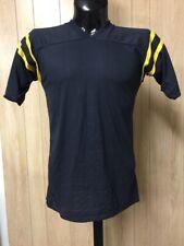 Vtg 80s Bantams Blank Football Jersey T-Shirt Blk w/Yellow(Gold) Stripes Choice