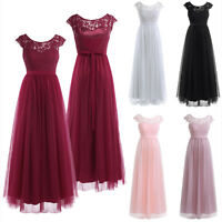 Lace Lady Women Formal Wedding Bridesmaid Long Evening Party Prom Cocktail Dress