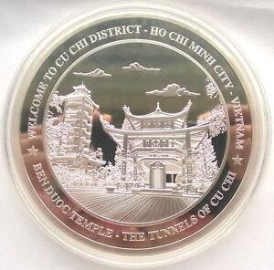 Vietnam Ho Chi Minh City 7oz Big Silver Medal,Proof,Rare!