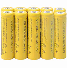 New 10x 18650 3.7V 9800mAh Li-ion Rechargeable Battery For Torch Yellow UK STOCK