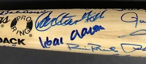 Hall of Fame Multi Signed Bat Baseball Autograph Hank Aaron Mays JSA 44 Sigs HOF