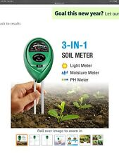 3 Way PH Test Meter Soil Ground Sunlight Sensor Moisture Test Garden Plant Care