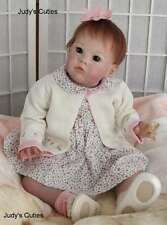 Sharlamae long sold out Bonnie Brown sculpt baby reborn girl, certificate,belly