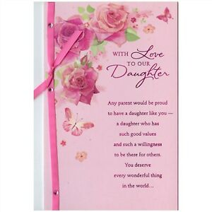 AG Valentine's Day Card: Our Daugher...You Deserve Everything Wonderful...