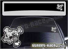 SS5071 Cráneo De Ken Block Auto Adhesivas Pegatinas gráficos de tira de sol FORD OPEL