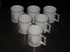 SET OF SIX CLAY CRAFT FINE BONE CHINA TEA / MUG CUPS (INDIA) -- FREE SHIPPING!!!