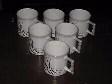 SET OF SIX CLAY CRAFT FINE BONE CHINA TEA / MUG CUPS (INDIA) -- FREE SHIPPING!!!