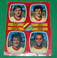 N°430 FLAK SOLER TABERNER CANET MARTIGUES D2 PANINI FOOTBALL 87 1986-1987