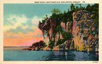 Vintage Postcard - Rock Point Lake Champlain Burlington Vermont VT #4797