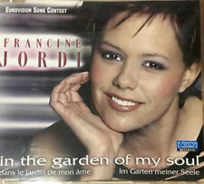 CD PROMO SINGLE EUROVISION 20012 FRANCINE JORDI DANS LE JARDIN DE MON AME