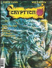 CRYPTYCH MAGAZINE V 11 # 1 GARTH ENNIS WES CRAVEN MAGIC GAMING MAYFAIR HORROR