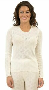 Ladies Long Sleeve And Long Jane Thermal Set White Size Various Sizes Extra Warm