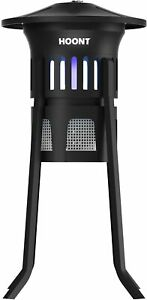 Hoont Indoor Outdoor 3-Way Mosquito Fly Trap Killer w Stand Bright UV Light, Fan