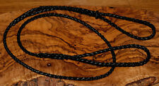 Dog Show Lead - Braided, Leather all in one Lead with leather slider / stop