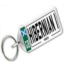 "NUMBER PLATE KEYRING FOR FOOTBALL FANS "" HIBERNIAN 1 """