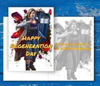 Doctor Who Birthday Card - 13th Doctor,Jodie Whittaker - Regeneration Day