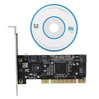 PCI-E to 4 Internal SATA Port Combo Extender Adapter RAID Controller Card SPG
