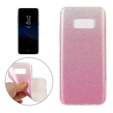 COVER Custodia Glitter Morbida TRASPARENTE Silicone per Samsung Galaxy S8 Rosa