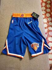 NIKE Authentic New York KNICKS Players Aeroswift On Court Blue Shorts sz 30 R