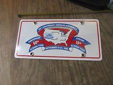 Porcelain license plate 1896-1996 Veteran Motor Car Club of America Glidden Tour