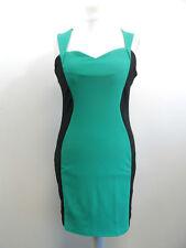 Damen Oui Oui Grün & Schwarz Fitted Kleid Größe XL nagelneu BOX8326 V