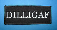 `DILLIGAF` SEW OR IRON ON PATCH