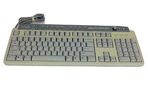 Sony Vaio Keyboard PCVA-KB7P/U Wired Multimedia Volume Knob VINTAGE