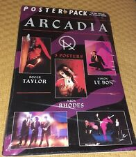 More details for arcadia vintage poster pack 1985. duran duran, classic pop memorabilia
