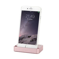 Dockingstation iPhone 7 6 6S Plus 5 5C 5S SE iPod Lade Stand Daten Sync Rosegold